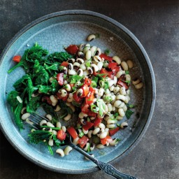 New Year's Black-Eyed Peas and Greens