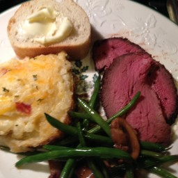 New Years Eve Dinner Smoked Beef Tenderloin