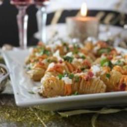 New Year's Eve Fingerling Hasselback Loaded Potato Bites
