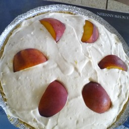 No Bake - No Brainer - Peach Cheese Cake