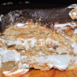 No bake s'mores casserole- ice box cake