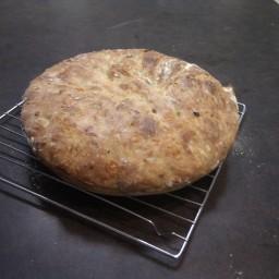 No Knead Onion Cheddar Bread