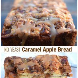 No Yeast Caramel Apple Bread