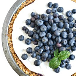 No Bake Blueberries and Cream Pie