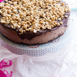 Nonnie's 5-Ingredient Chocolate and Peanut Butter Ice Cream Cake.