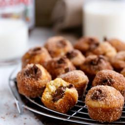 Nutella Churro Donut Holes