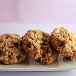 Oatmeal Bran Chocolate Chip Cookies