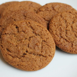 Oatmeal Gingersnap Cookies