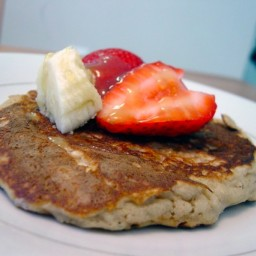 Oatmeal Pancakes & Roasted Strawberries