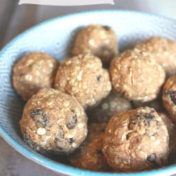 Oatmeal Raisin Cookie Dough Protein Balls