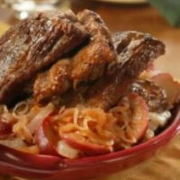 Oktoberfest Ribs with Apple Sauerkraut