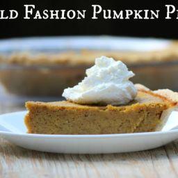 Old Fashion Pumpkin Pie Recipe