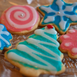 Oma's Sugar Cookies with Glossy Icing