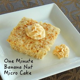 One Minute Banana Nut Micro Cake (Muffin in a Minute)