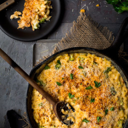 One Pot Broccoli-Cauliflower Mac and Cheese