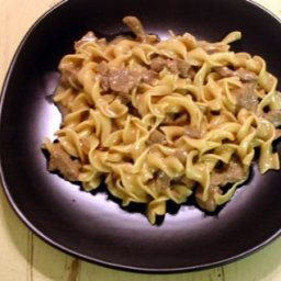 One Pot Mock Beef Stroganoff