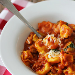 One-Pot Sausage  and  Cheese Cappelletti