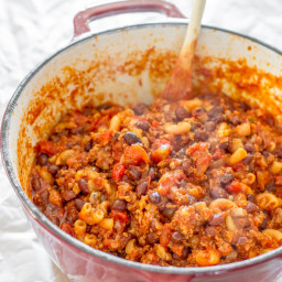 One Pot Quick Chili Pasta