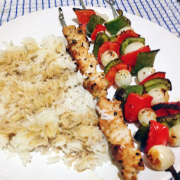 Onion & Pepper Chicken Skewers