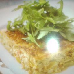 Open Potato Omelet
