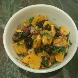 Orange and Black Olive Salad