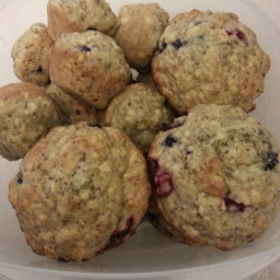 Orange Cranberry Flax Muffins