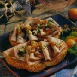 Orange-Grilled Pork Sandwiches with Apricot Sauce