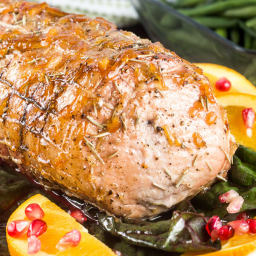 Orange Pomegranate Rosemary Roast Pork