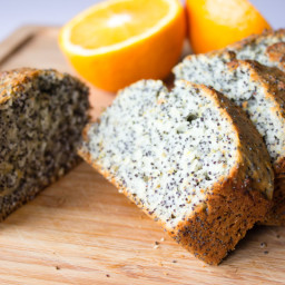 Orange poppy seeds loaf cake