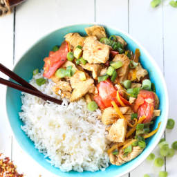 Orange Chicken and Tomato Stir Fry