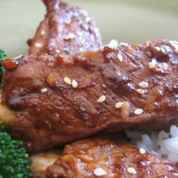 Oriental Baby Back Ribs and Rice