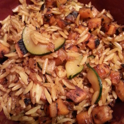 Orzo with Fall Vegetables & Ginger