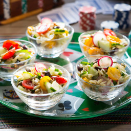 Orzo Salad with Grape Tomatoes and Radishes