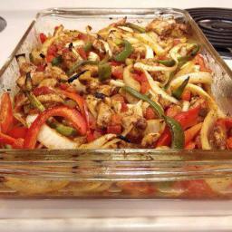 Oven Baked Chicken Fajita