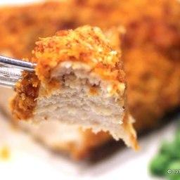 Oven Baked Parmesan Paprika Skinless Boneless Chicken Breast