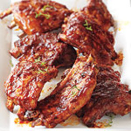 Oven-Baked Ribs With Maple Barbecue Sauce