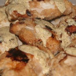 Oven-fried Chicken Thighs with Buttermilk-Mustard Sauce