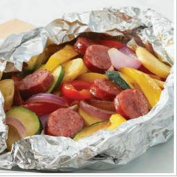 Oven Pouch Potatoes and Sausage