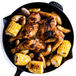 Oven-Roasted Kimchi Chicken