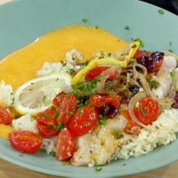 Oven Roasted Red Snapper Fillets with Tomatoes and Onions