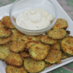 {Oven Baked} Parmesan Zucchini Chips