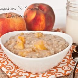 Overnight Peaches & Cream Oatmeal