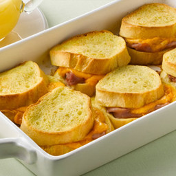Overnight Ham & Cheese French Toast