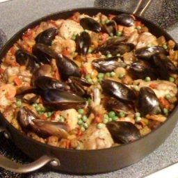 Paella (Spanish Chicken, Seafood Casserole)