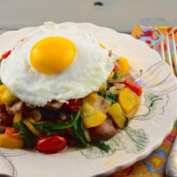 Paleo Breakfast Veggie Hash With Eggs