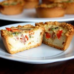 Paleo Mini Quiches with Almond Flour Crust