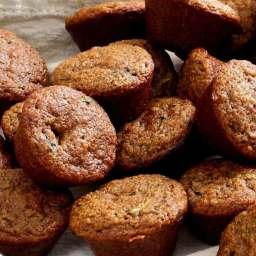 Paleo Zucchini Chocolate Chip Mini-Muffins Recipe