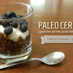 Paleo cereal – grain-free, oat-free, nut-free granola with maca root