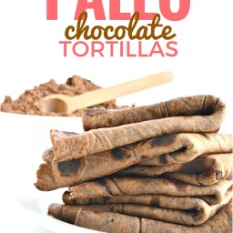 Paleo Chocolate Tortillas