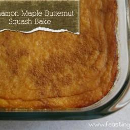 Paleo Cinnamon Maple Butternut Squash Bake